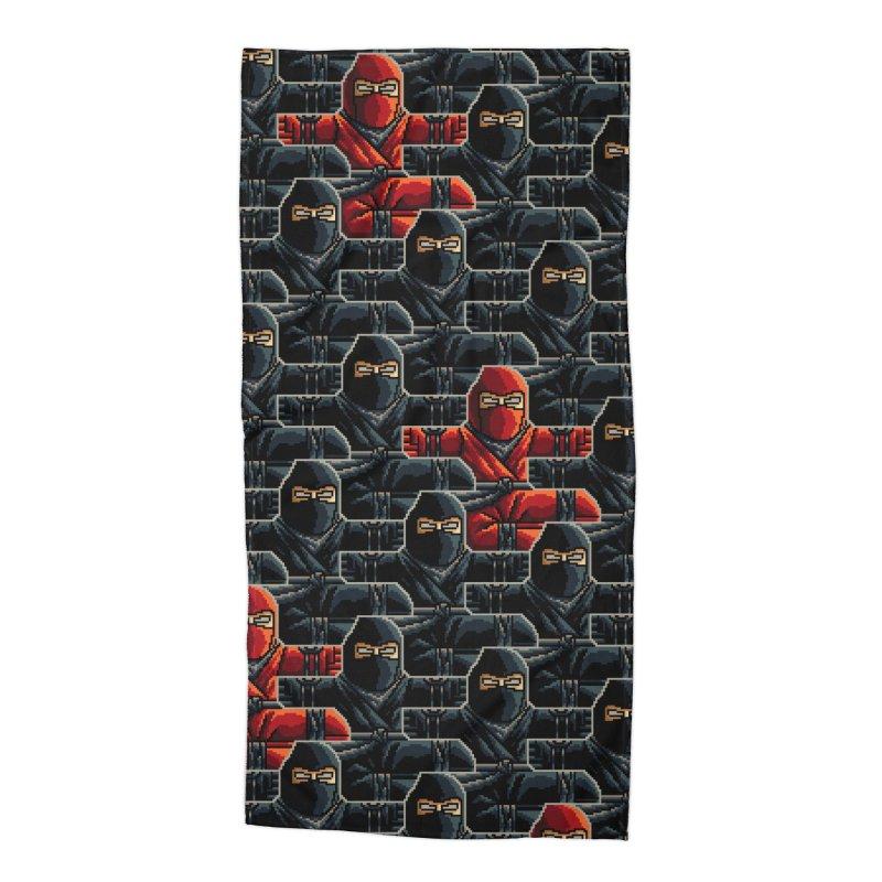 Ninja Kicks Accessories Beach Towel by ramos's Artist Shop