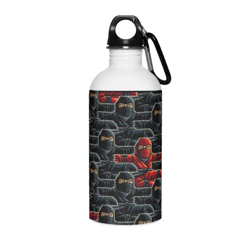 Ninja Kicks Accessories Water Bottle by ramos's Artist Shop