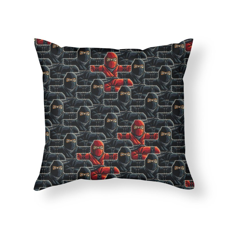 Ninja Kicks Home Throw Pillow by ramos's Artist Shop