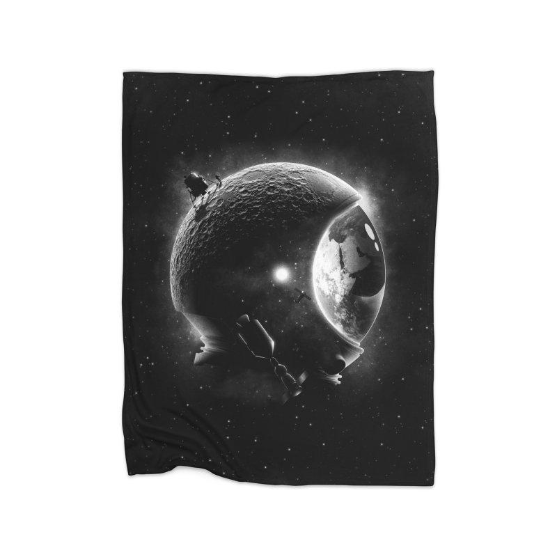 Moon's Helmet Home Blanket by ramos's Artist Shop