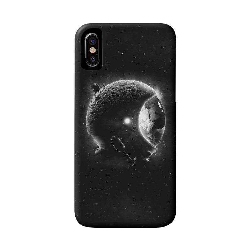 Moon's Helmet Accessories Phone Case by ramos's Artist Shop