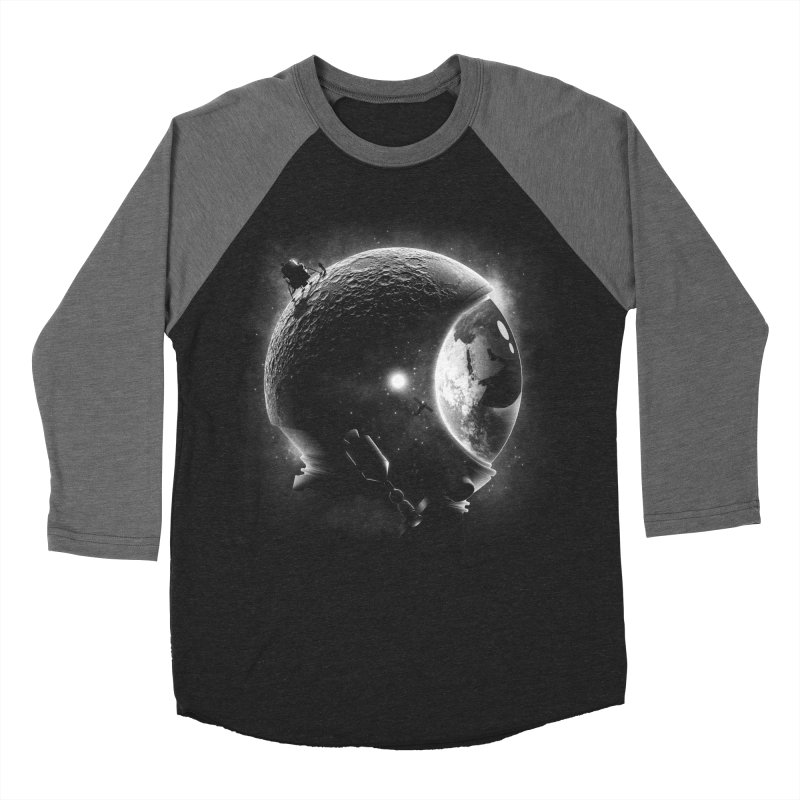 Moon's Helmet Women's Baseball Triblend T-Shirt by ramos's Artist Shop