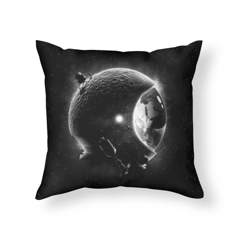 Moon's Helmet Home Throw Pillow by ramos's Artist Shop