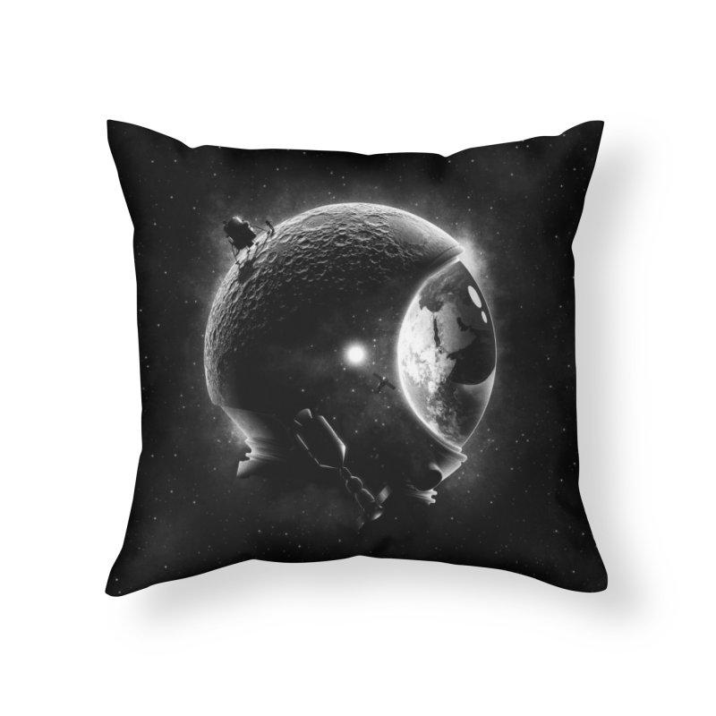 Moon's Helmet Home Throw Pillow by ramos's Artist Shop