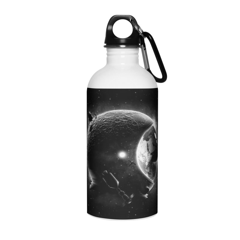 Moon's Helmet Accessories Water Bottle by ramos's Artist Shop