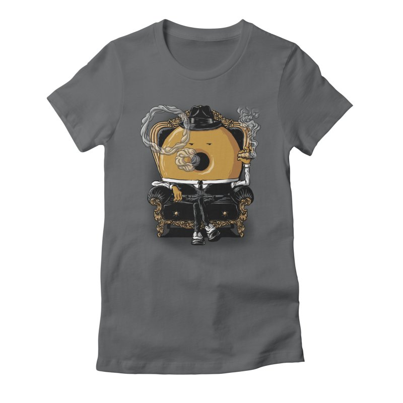 Gangster Donut Women's Fitted T-Shirt by ramos's Artist Shop