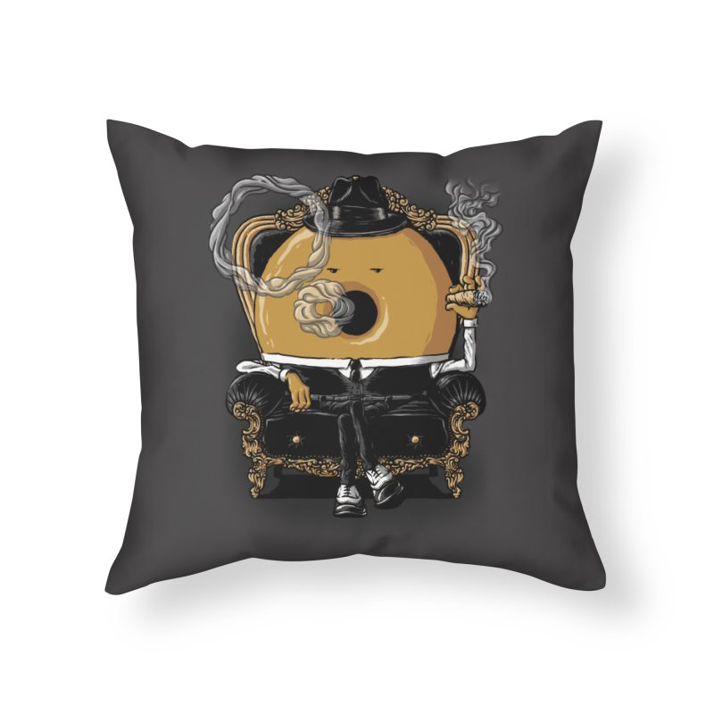 Gangster Donut Home Throw Pillow by ramos's Artist Shop