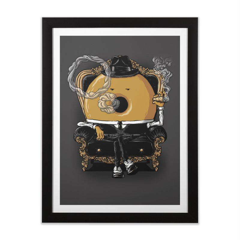 Gangster Donut Home Framed Fine Art Print by ramos's Artist Shop
