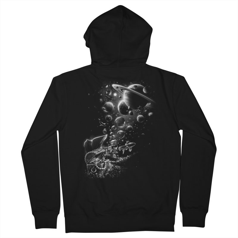 Aquarium Chest Women's French Terry Zip-Up Hoody by ramos's Artist Shop