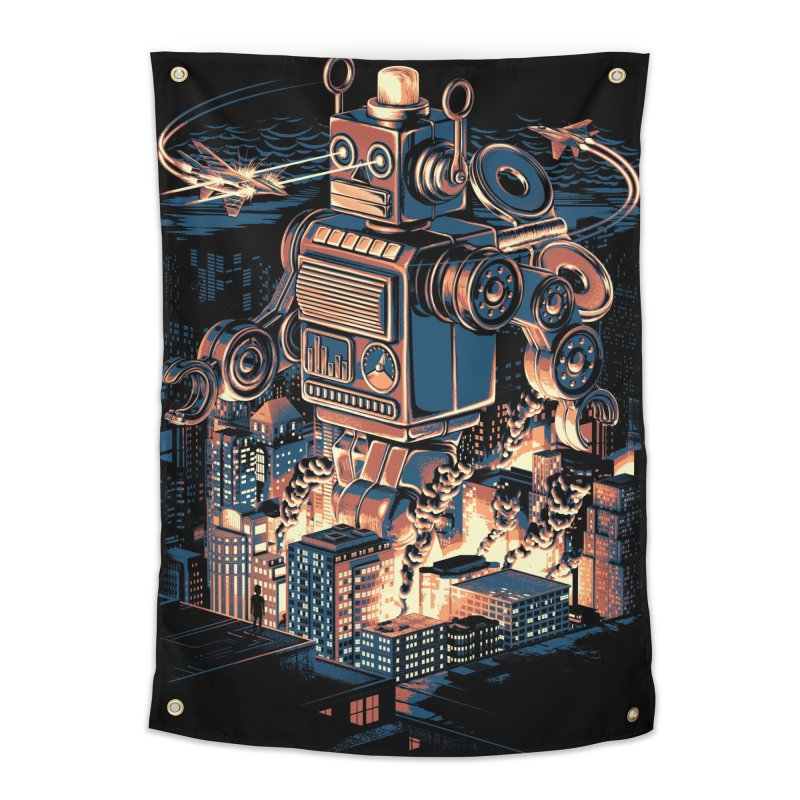 Night of the Toy Home Tapestry by ramos's Artist Shop