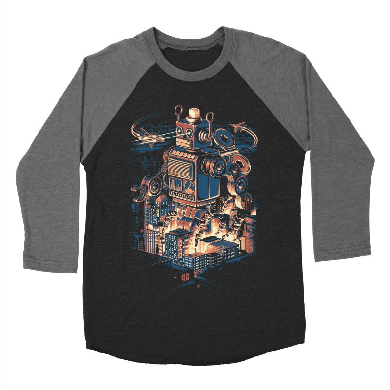 Night of the Toy Men's Baseball Triblend T-Shirt by ramos's Artist Shop