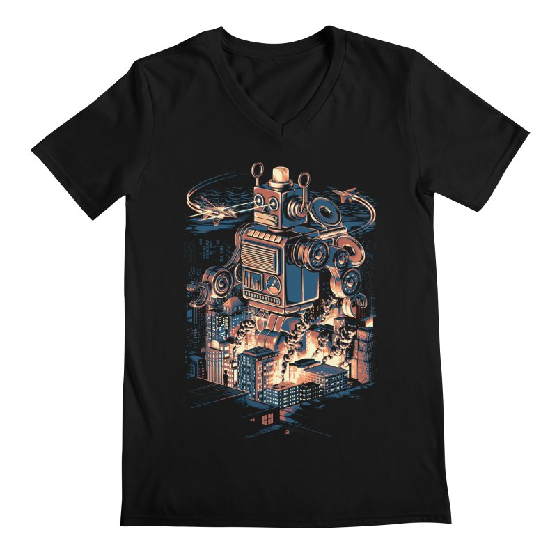 Night of the Toy Men's Regular V-Neck by ramos's Artist Shop