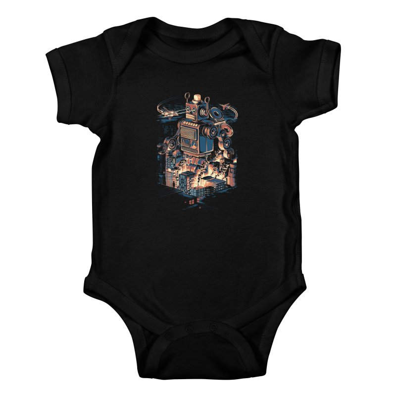 Night of the Toy Kids Baby Bodysuit by ramos's Artist Shop