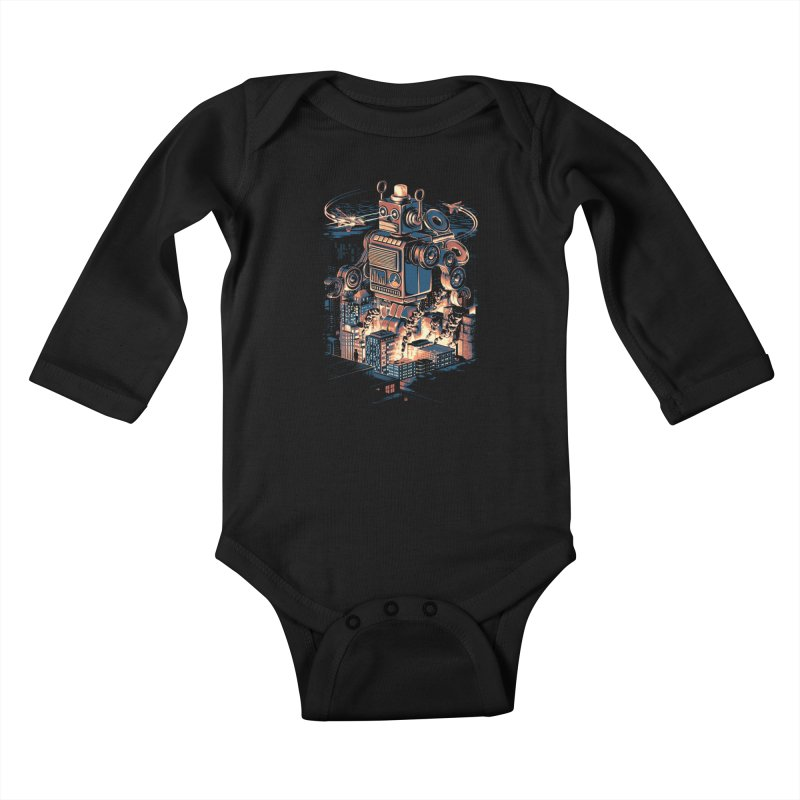 Night of the Toy Kids Baby Longsleeve Bodysuit by ramos's Artist Shop