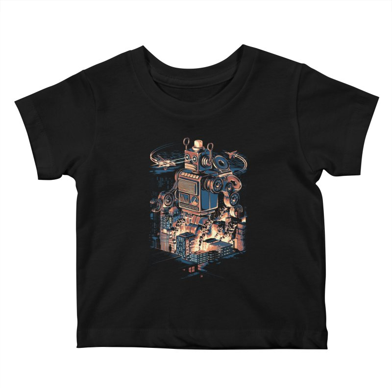 Night of the Toy Kids Baby T-Shirt by ramos's Artist Shop