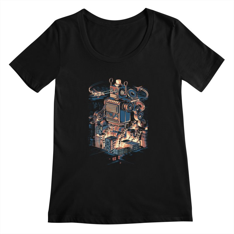 Night of the Toy Women's Scoopneck by ramos's Artist Shop