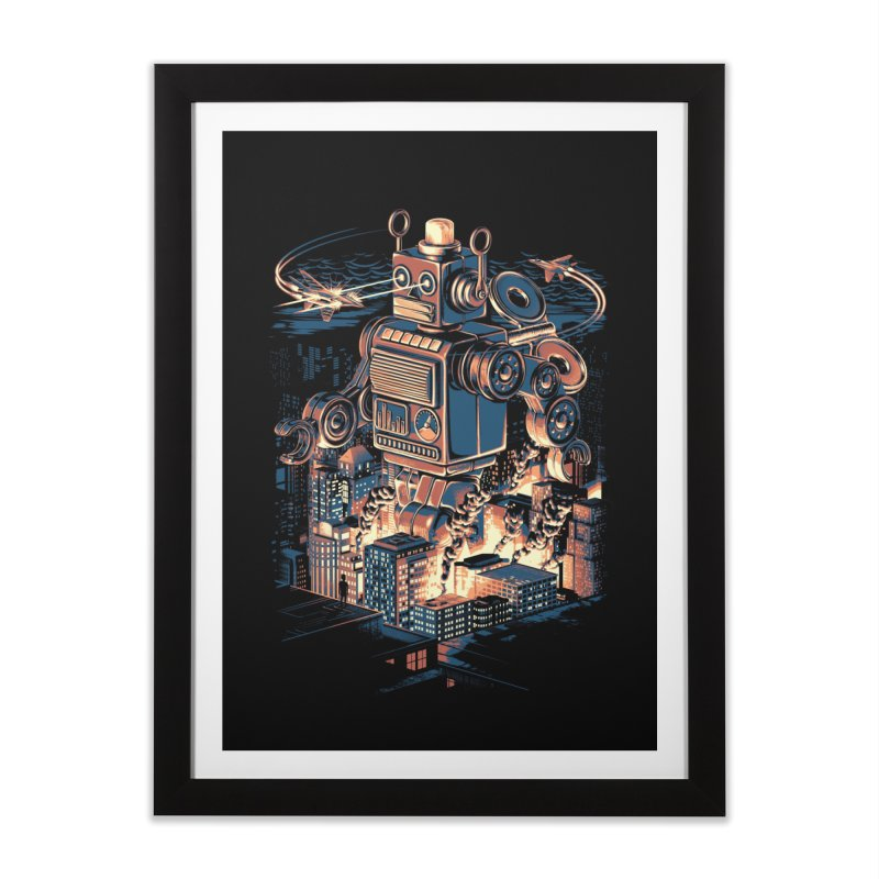 Night of the Toy Home Framed Fine Art Print by ramos's Artist Shop