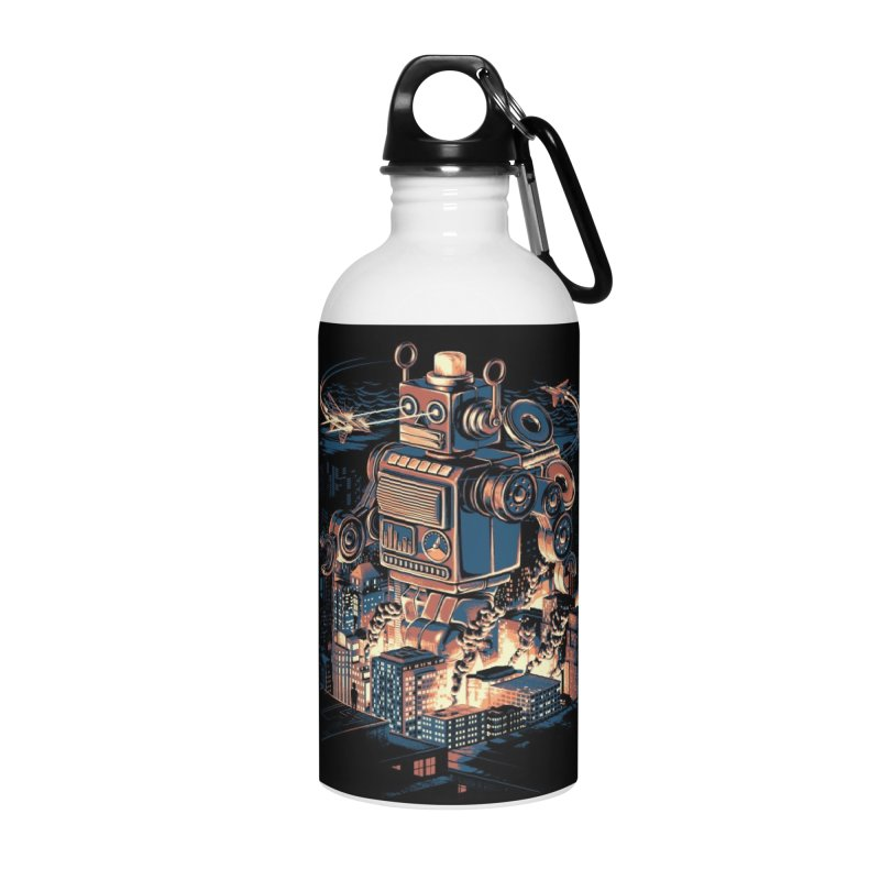 Night of the Toy Accessories Water Bottle by ramos's Artist Shop