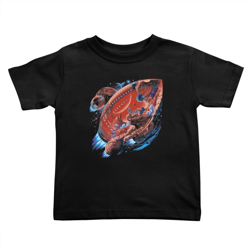 Rocket Planet Kids Toddler T-Shirt by ramos's Artist Shop