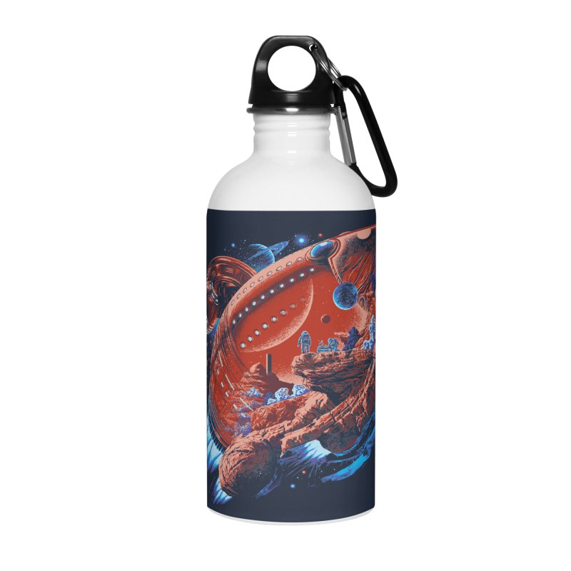 Rocket Planet Accessories Water Bottle by ramos's Artist Shop