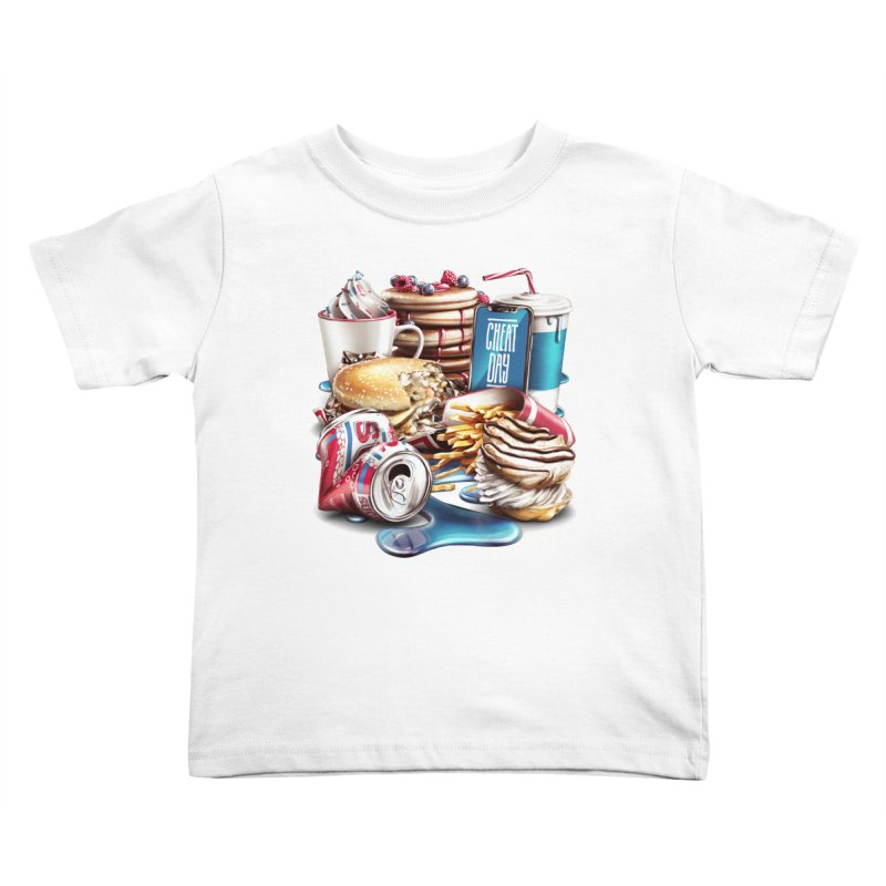 Cheat Day Kids Toddler T-Shirt by ramos's Artist Shop