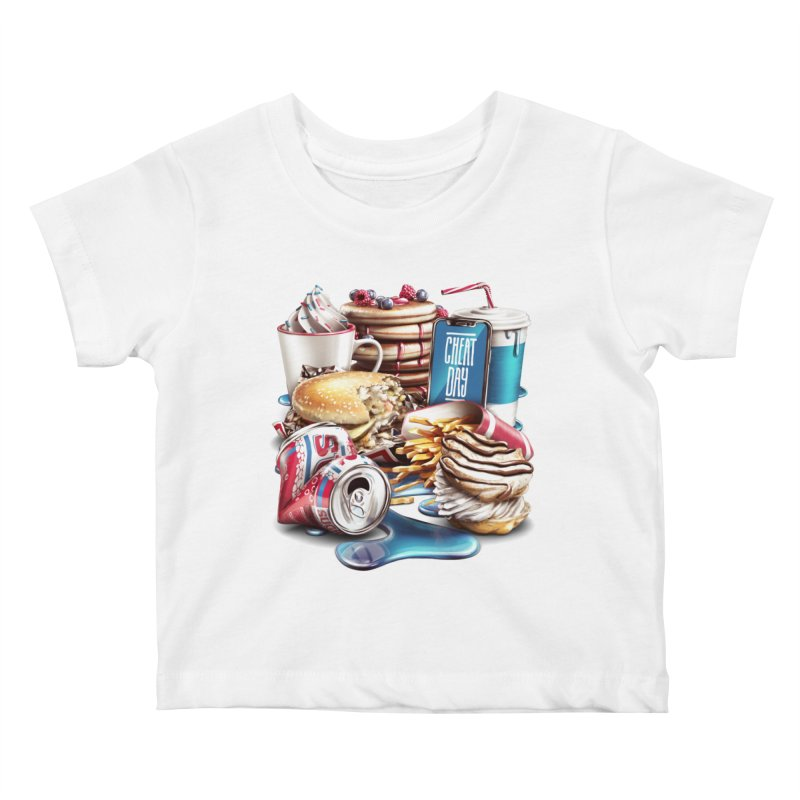 Cheat Day Kids Baby T-Shirt by ramos's Artist Shop