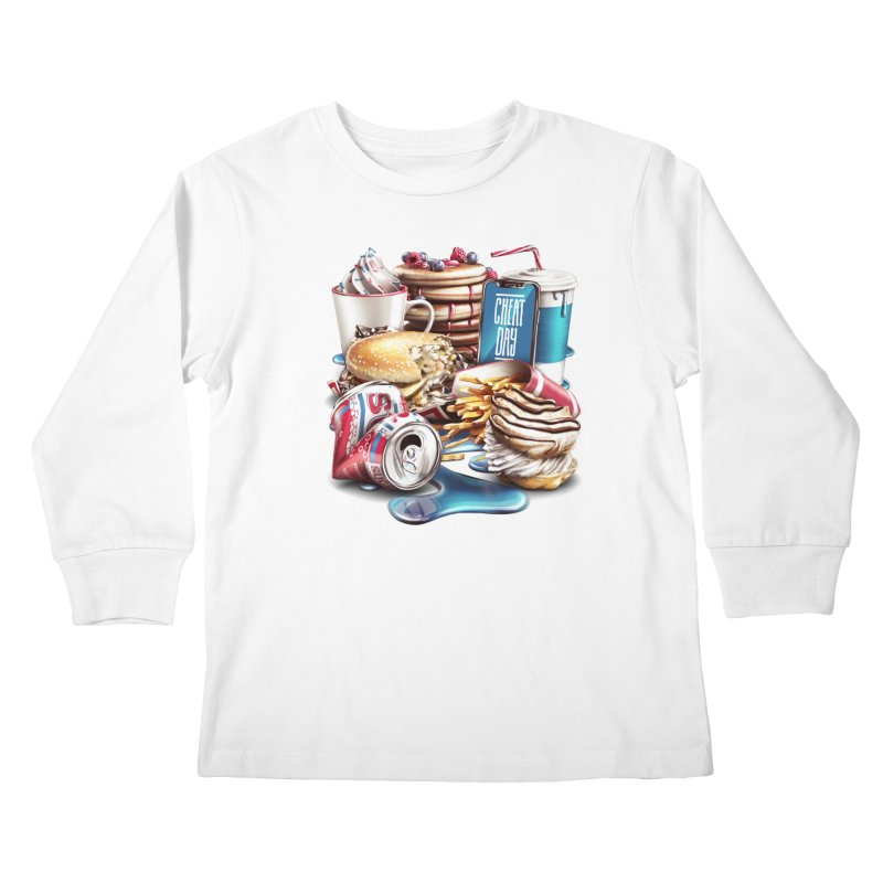 Cheat Day Kids Longsleeve T-Shirt by ramos's Artist Shop