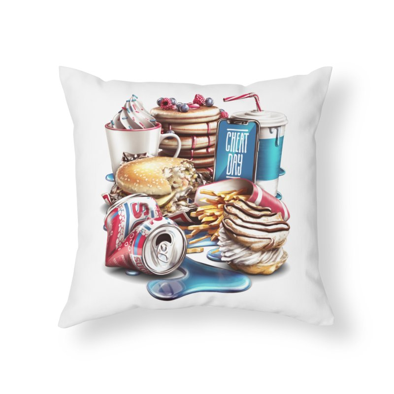 Cheat Day Home Throw Pillow by ramos's Artist Shop