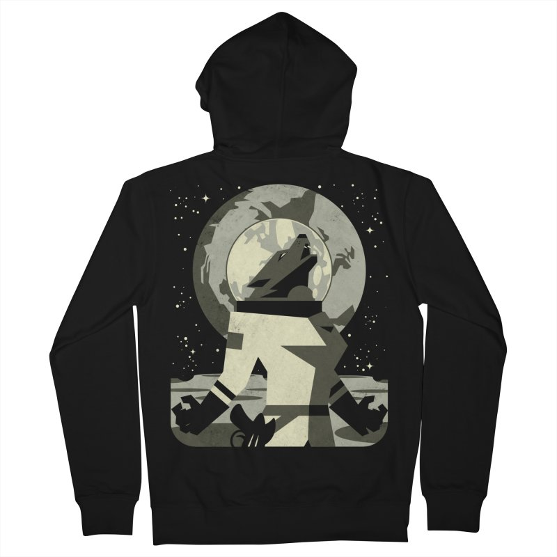 Werewolf in the Moon Women's Zip-Up Hoody by ramos's Artist Shop