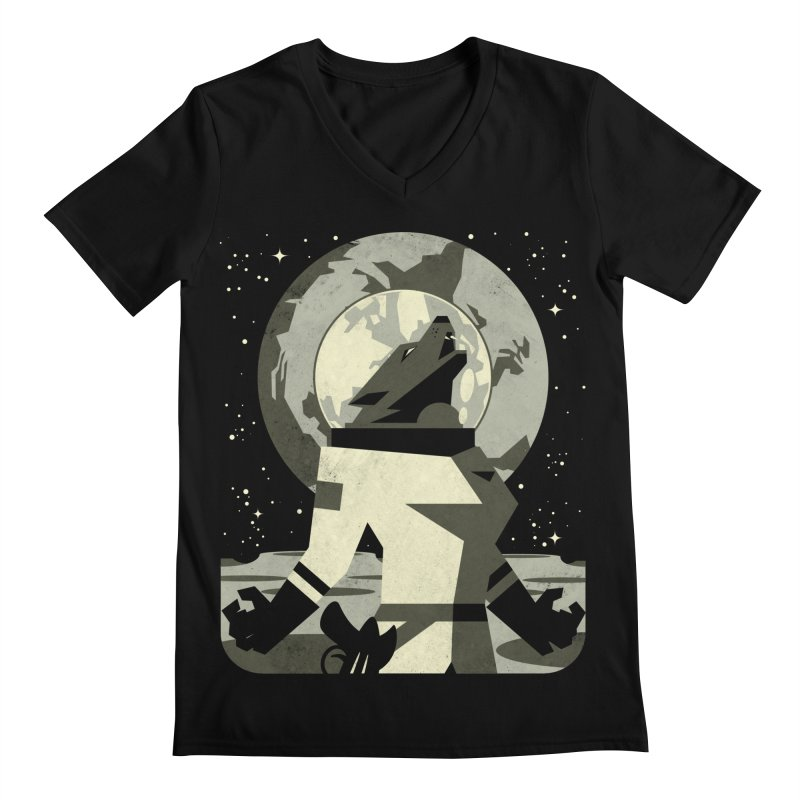 Werewolf in the Moon Men's V-Neck by ramos's Artist Shop