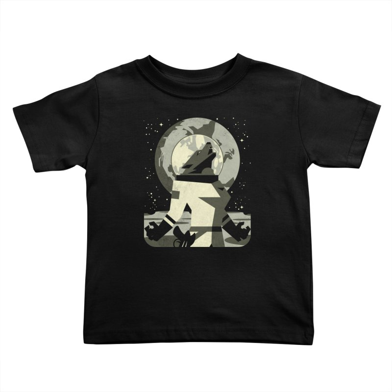 Werewolf in the Moon Kids Toddler T-Shirt by ramos's Artist Shop