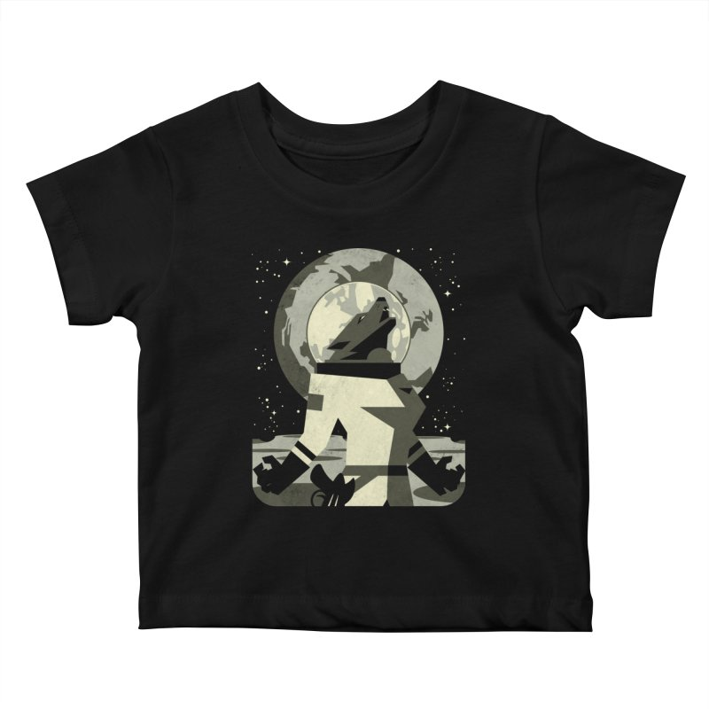 Werewolf in the Moon Kids Baby T-Shirt by ramos's Artist Shop