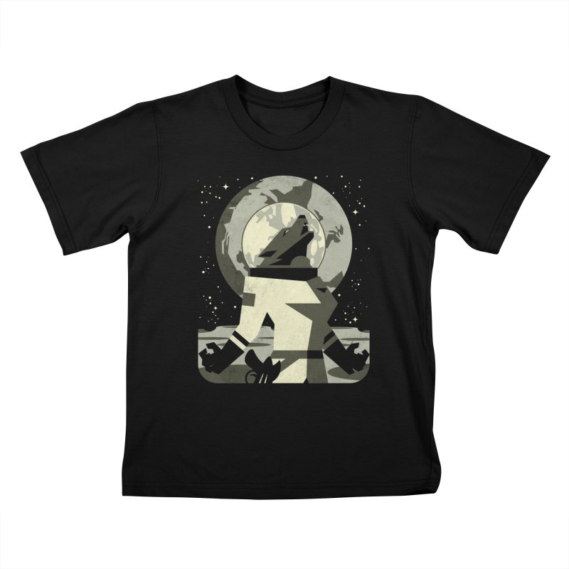 Werewolf in the Moon Kids T-Shirt by ramos's Artist Shop