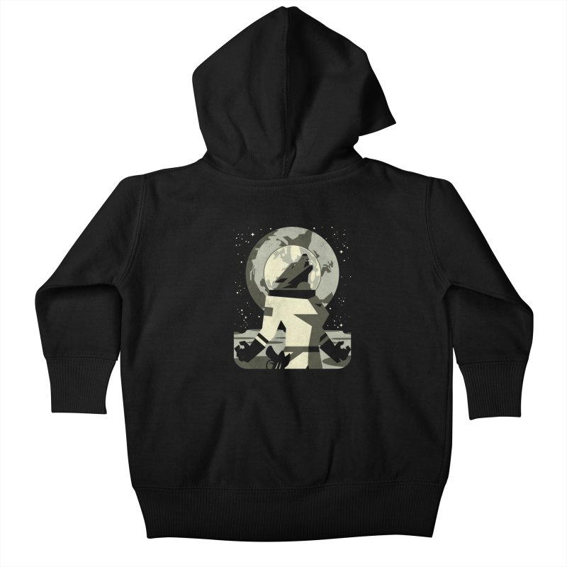 Werewolf in the Moon Kids Baby Zip-Up Hoody by ramos's Artist Shop
