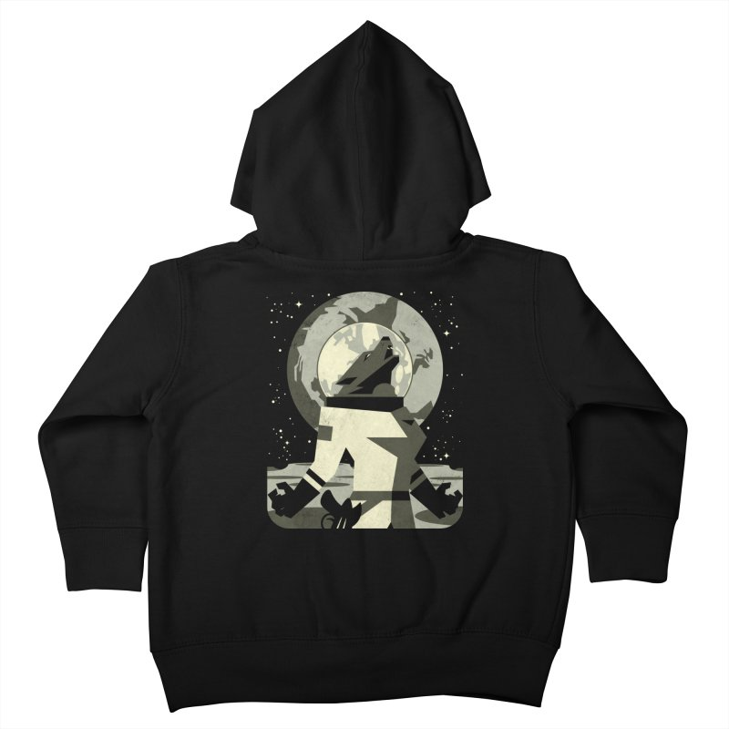 Werewolf in the Moon Kids Toddler Zip-Up Hoody by ramos's Artist Shop