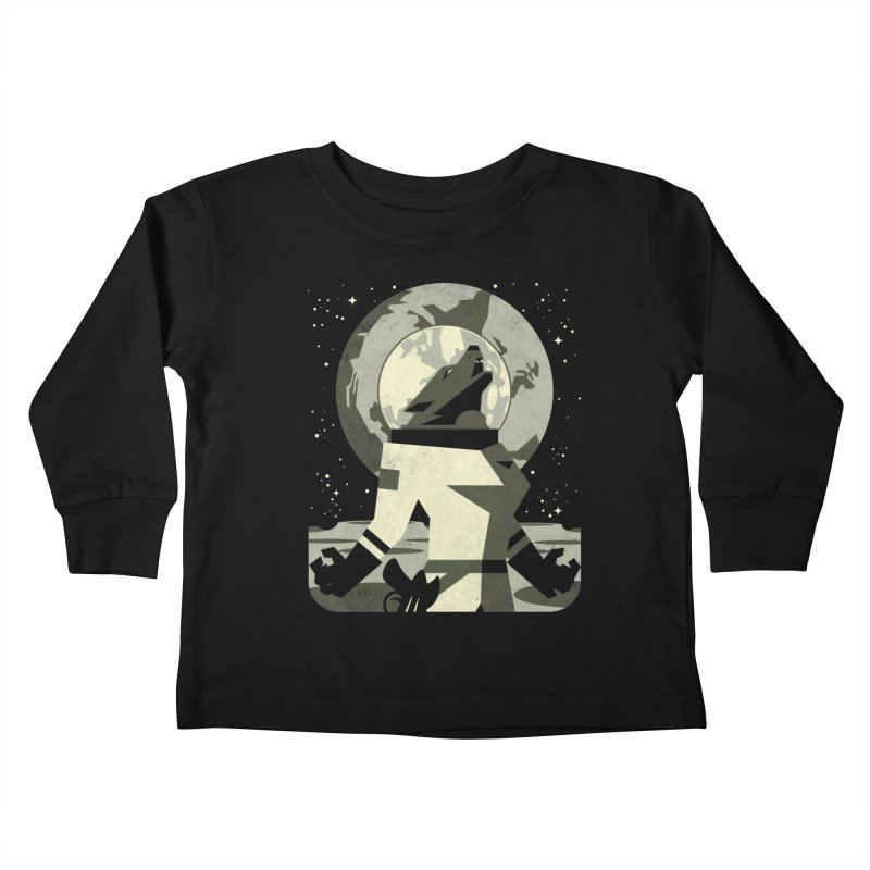 Werewolf in the Moon Kids Toddler Longsleeve T-Shirt by ramos's Artist Shop