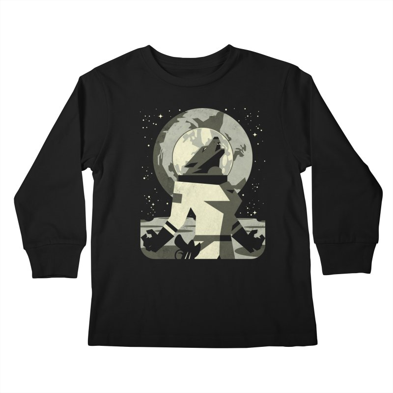 Werewolf in the Moon Kids Longsleeve T-Shirt by ramos's Artist Shop