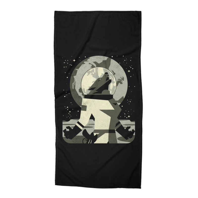 Werewolf in the Moon Accessories Beach Towel by ramos's Artist Shop