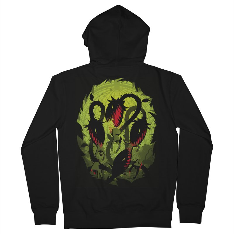 Panic in the Botanic Garden Men's French Terry Zip-Up Hoody by ramos's Artist Shop