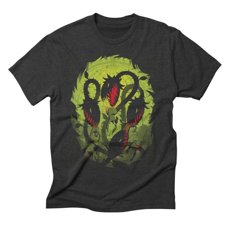 Panic in the Botanic Garden Men's Triblend T-shirt by ramos's Artist Shop