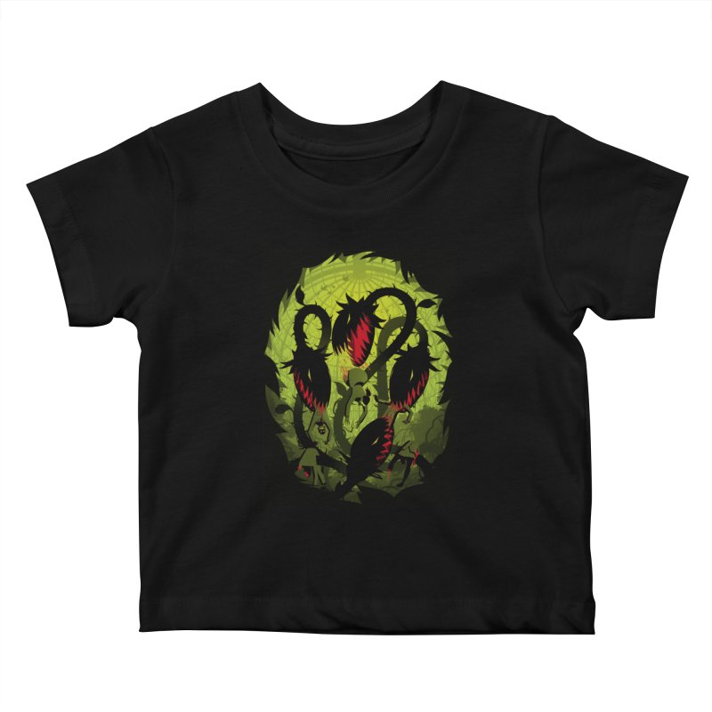 Panic in the Botanic Garden Kids Baby T-Shirt by ramos's Artist Shop
