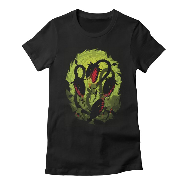 Panic in the Botanic Garden Women's Fitted T-Shirt by ramos's Artist Shop