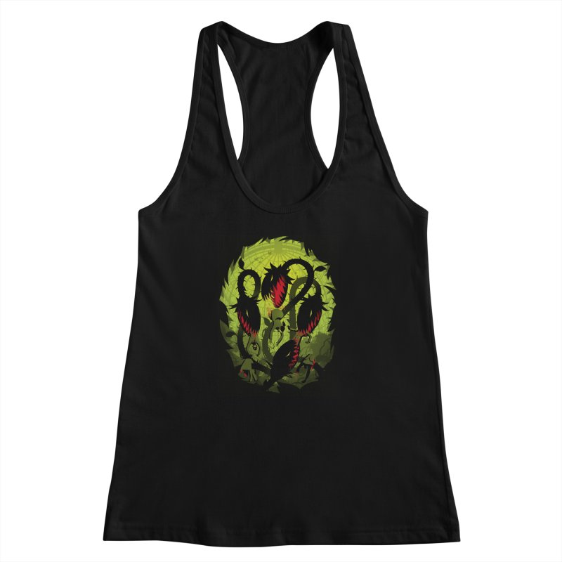 Panic in the Botanic Garden Women's Racerback Tank by ramos's Artist Shop
