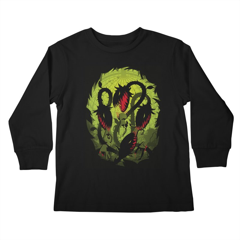 Panic in the Botanic Garden Kids Longsleeve T-Shirt by ramos's Artist Shop