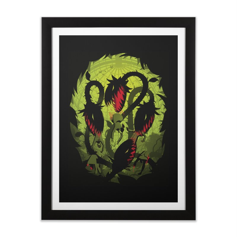 Panic in the Botanic Garden Home Framed Fine Art Print by ramos's Artist Shop