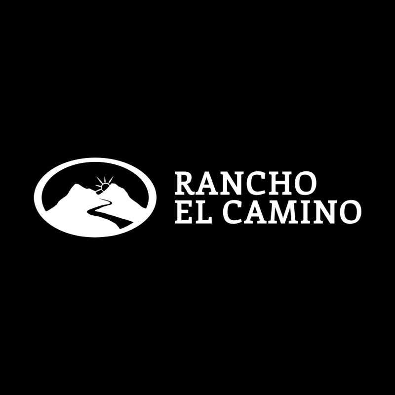 The Ranch Stacked - WHITE Men's Longsleeve T-Shirt by Rancho El Camino's Artist Shop