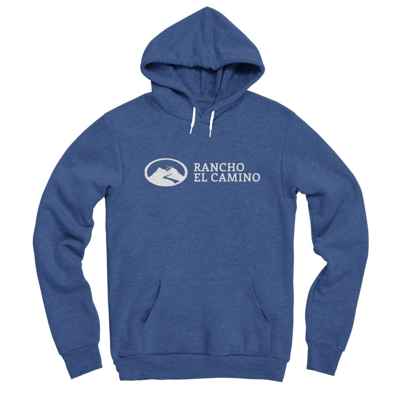 The Ranch Stacked - WHITE Men's Pullover Hoody by Rancho El Camino's Artist Shop