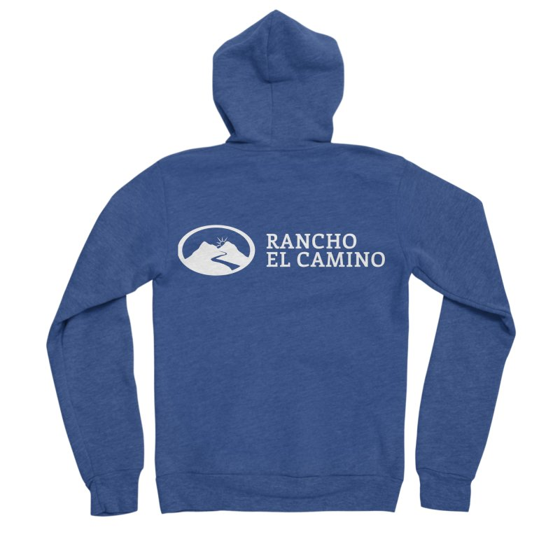 The Ranch Stacked - WHITE Men's Zip-Up Hoody by Rancho El Camino's Artist Shop
