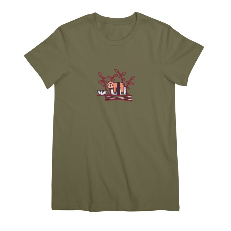 Sloth sushi Women's Premium T-Shirt by Randyotter