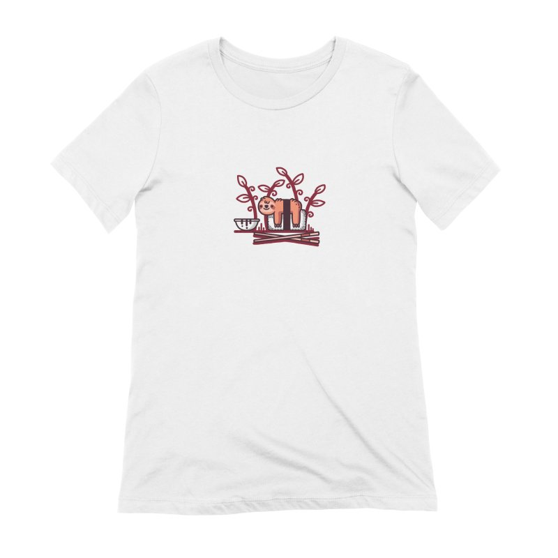 Sloth sushi Women's Extra Soft T-Shirt by Randyotter